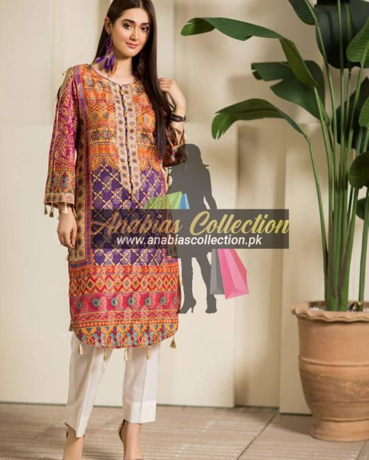 Digital-Chevron-Jacquard-Banarsi-Tunic-Kurties-Collection-D-06